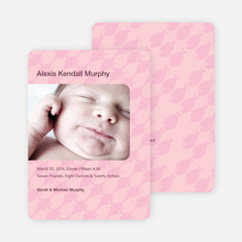 Fish Wallpaper Photo Birth Announcements - Baby Pink