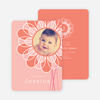 Flower Child Birth Announcements - Pink Sunflower