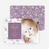 Flower Child Flower Power Birth Announcements - Purple Berry