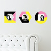 Geometric Color Block Photo Wall Decals - Pink