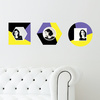 Geometric Color Block Photo Wall Decals - Purple