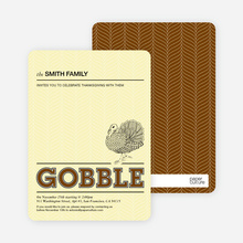 Gobble Gobble Thanksgiving Cards - Chocolate