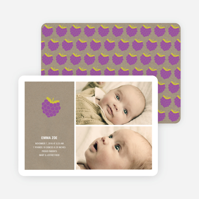 Grape Greatness Birth Announcements - Grape