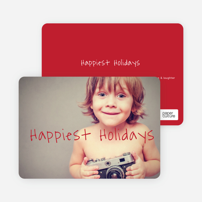 Happiest Holidays Cards - Red