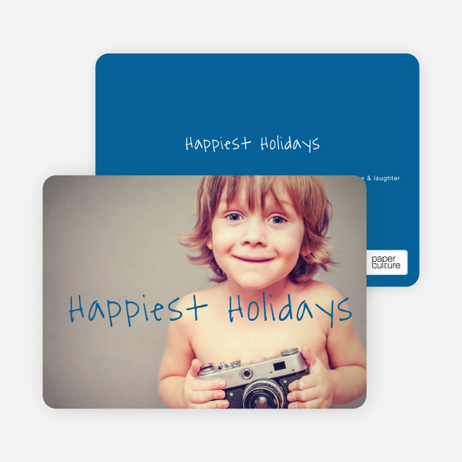 Happiest Holidays Cards - Blue