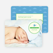 Helicopter Themed Birth Announcements - Green