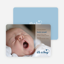 It's a Boy Photo Birth Announcements - Blue