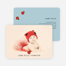 Ladybug Ladybug Photo Birth Announcements - Blue Egg