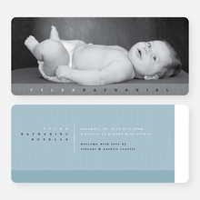 Modern Studio Birth Announcements - Black