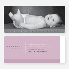 Modern Studio Birth Announcements - Pink
