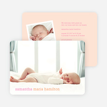 Modern Text Simply Photos Birth Announcements - Carrot Cake