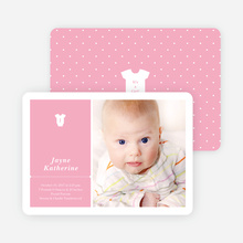 Onesie Tag Fresh Birth Announcements - Pinksie