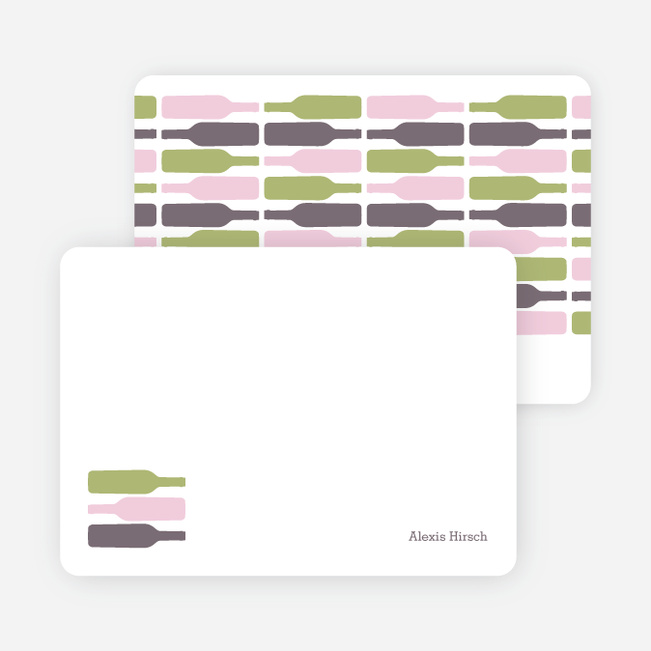 Personal Stationery for Fine Wine Party Invitation - Pistachio