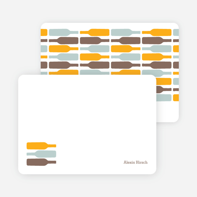 Personal Stationery for Fine Wine Party Invitation - Pumpkin