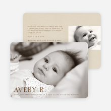 Pro Photo Birth Announcements - Chocolate