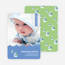 Sailor Photo Birth Announcements - Blue