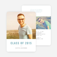 Simple and Classic Graduation Cards - Blue