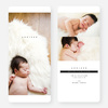Simply Classic Photo Birth Announcements - Black