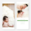Simply Classic Photo Birth Announcements - Green