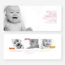 Simply Photos (Large) Birth Announcements - Pink