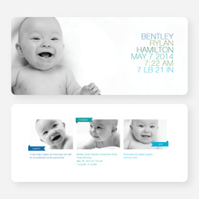 Simply Photos (Large) Birth Announcements - Blue