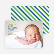 Simply Photos: 'Nounced Modern Baby Announcement - Paper Culture Green
