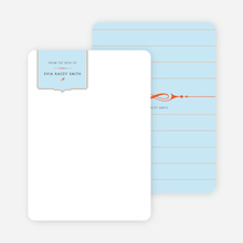 Stationery: 'Chic and Modern' cards. - Glacier