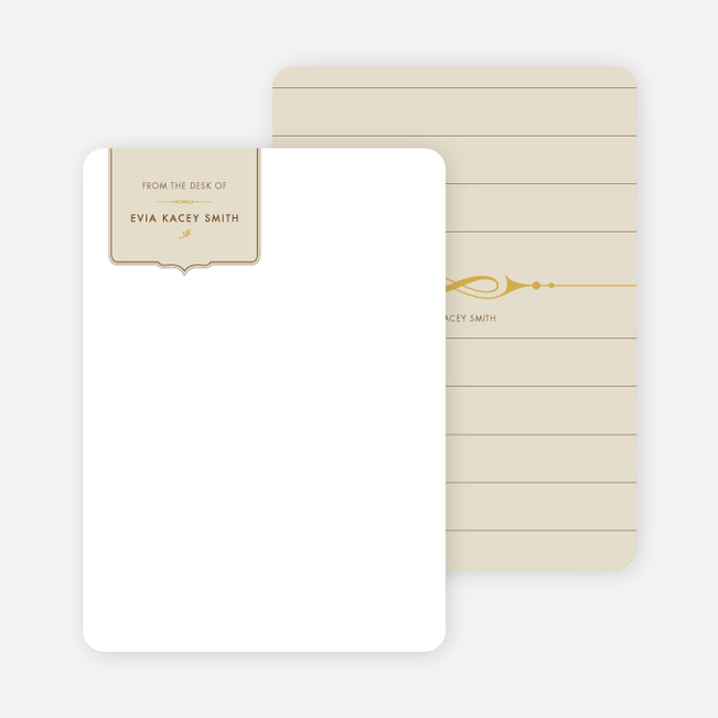 Stationery: 'Chic and Modern' cards. - Oyster