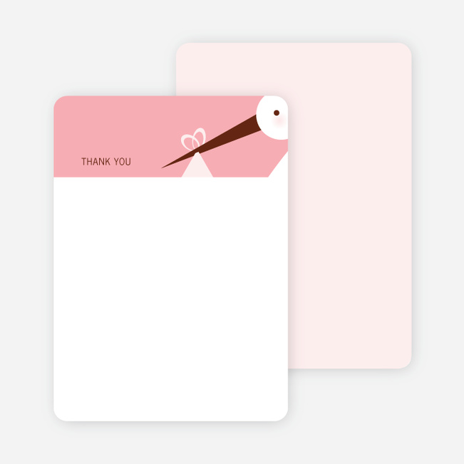 Stationery: 'Stork Baby Shower' cards. - Carnation