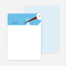 Stationery: 'Stork Baby Shower' cards. - Sky Blue