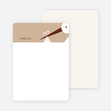 Stationery: 'Stork Baby Shower' cards. - Almond