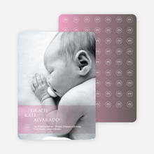 Studio Series Photo Birth Announcements - Pink