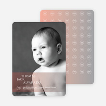 Studio Series Photo Birth Announcements - Powder Blue