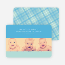Studio Triple Birth Announcements - Blue Horizon