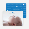 Tiny Teddy Bear Photo Birth Announcement Prints - Royal Blue
