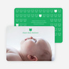 Tiny Teddy Bear Photo Birth Announcement Prints - Emerald