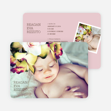 Unique Birth Announcements - Pink