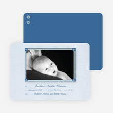 Wallpaper Photo Frame Birth Announcements - Glacier