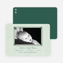 Wallpaper Photo Frame Birth Announcements - Mint