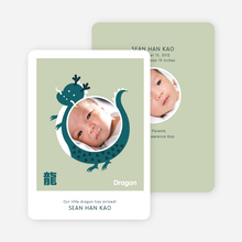 Year of the Dragon Photo Cards for Chinese New Year - Teal