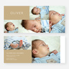 6 Photo Birth Announcements - Beige