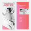 Color Gradient Birth Announcements: Bold and Modern - Pink