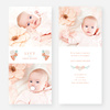 Floral Bouquet Baby Announcements - Blue