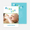 Fun Clothesline Birth Announcements - Blue Cheese