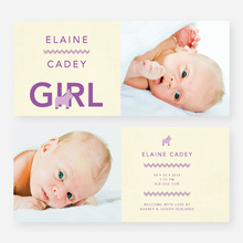 Nice A** Donkey Themed Birth Announcements - Purple