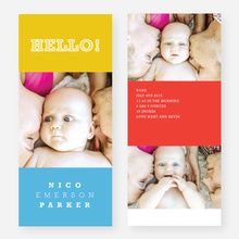Primary Colors Birth Announcements - Yellow