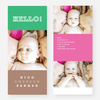 Primary Colors Birth Announcements - Green