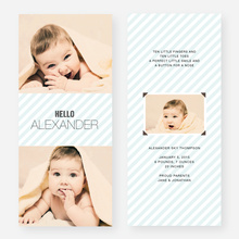 Soft Stripes Holiday Cards - Blue