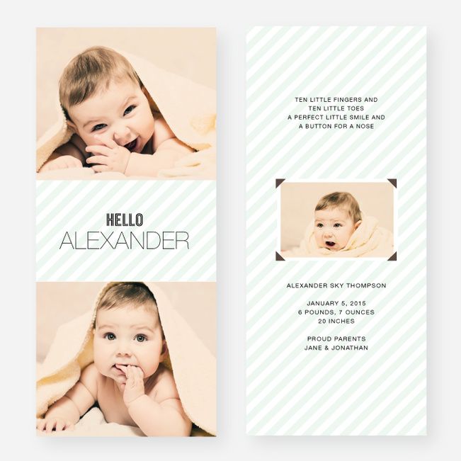 Soft Stripes Holiday Cards - Green