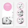 Circle Themed Birth Announcements - Pink